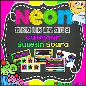 NEON Chalkboard Calendar by Proud to be Primary