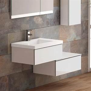 meuble salle de bain 70 cm plan vasque resine 2 tiroirs duo With meuble vasque salle de bain 70 cm