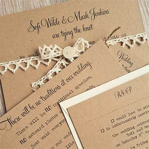 bespoke wedding stationery vintage twee With bespoke rustic wedding invitations