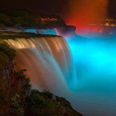 Neon waterfall art on Pinterest