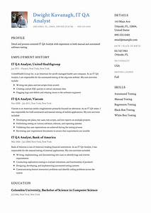 It Qa Analyst Resume  U0026 Guide  With Images