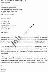Investment Banking Cover Letter Cover Letter Format