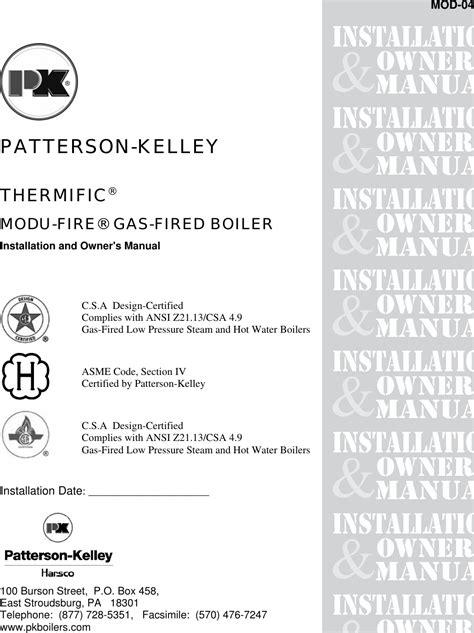 Patterson Kelley Mod 04 Users Manual 04MSTR