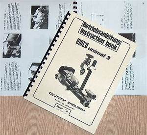 Emco Unimat 3 Mill Metal Lathe Instruction Manual