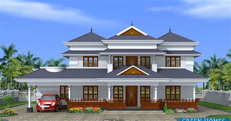 Green Homes: Traditional Style Kerala Home in 3450 Sq.Ft