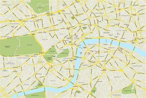central london map royalty  editable vector map