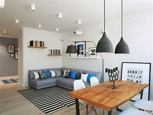 Interieur appartement moderne d39inspiration scandinave a for Formation decorateur interieur avec canapé banquette design
