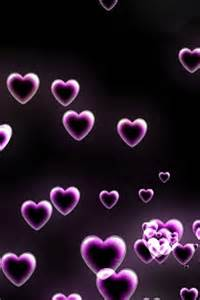 I Love Purple Hearts Wallpaper