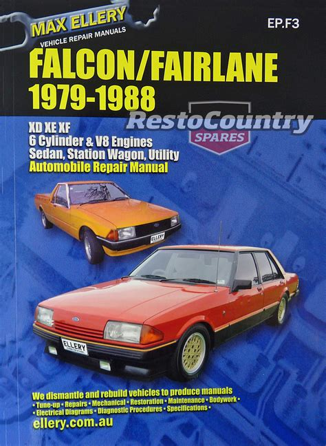 online car repair manuals free 1966 ford falcon spare parts catalogs ford falcon fairlane xd xe xf workshop repair manual 1979 88 book max ellery