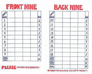 Miniature golf score card - burgsandfreermulb's blog