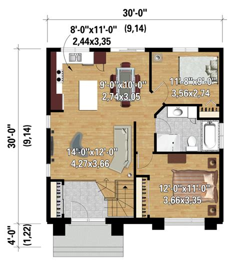 contemporary style house plan  beds  baths  sqft