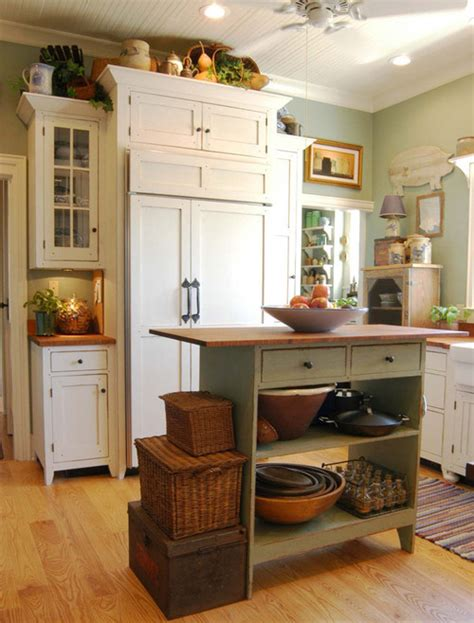 cottage style kitchen island a pocketful of blue adorable cottage kitchen