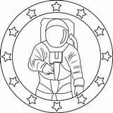 Astronaut Coloring Mission Pages Emblem Preschoolers Preschool Worksheets Apollo Colornimbus sketch template