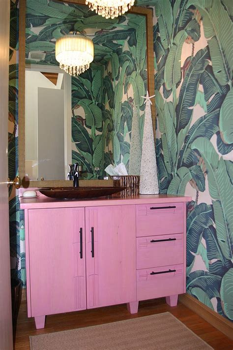 wall partitions ideas summer trend 25 dashing powder rooms with tropical flair