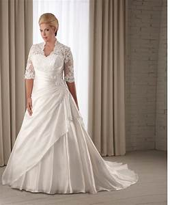 elegant fall plus size wedding dresses with sleeves for With wedding gowns for plus size