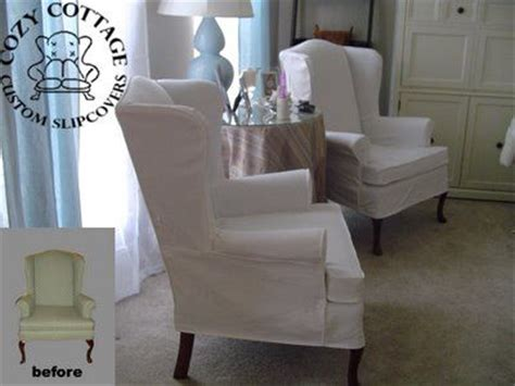 top 25 ideas about slip covered wing chair on