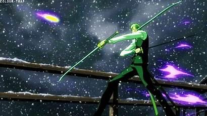 Piece Zoro Roronoa Gifs Giphy Glowing Anime