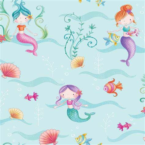 decor mermaid wallpaper at homebase co uk