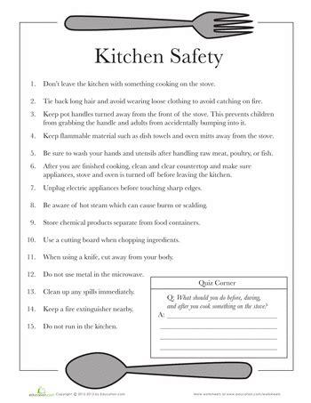 kitchen safety tech4teacher safety