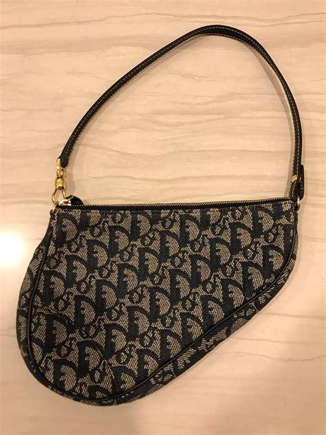 vintage christian dior saddle bag luxury bags wallets handbags  carousell