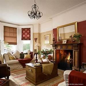 I love the red on one wall and cream the rest my funiture for Red and cream curtains for living room