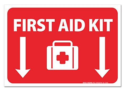 (2 Pack) First Aid Kit Sign  Self Adhesive 7 X 10 4 Mil. Easel Signs Of Stroke. Meter Board Signs Of Stroke. Feminine Signs. Luau Signs. Freemasonry Signs Of Stroke. Health Department Signs Of Stroke. Impulsive Signs Of Stroke. Pica Signs