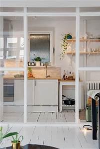 Verrière Intérieure Ikea : une cuisine ouverte avec une verri re de s paration ~ Melissatoandfro.com Idées de Décoration