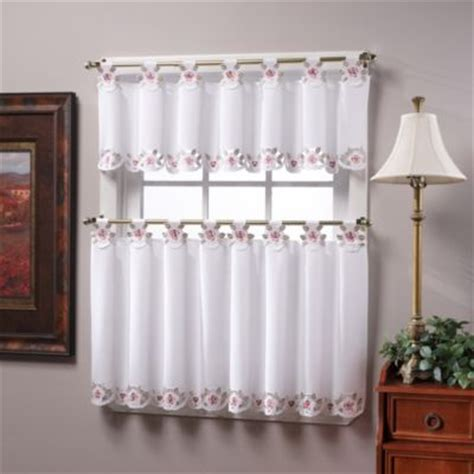 tab top window curtain tier pairs and valance in