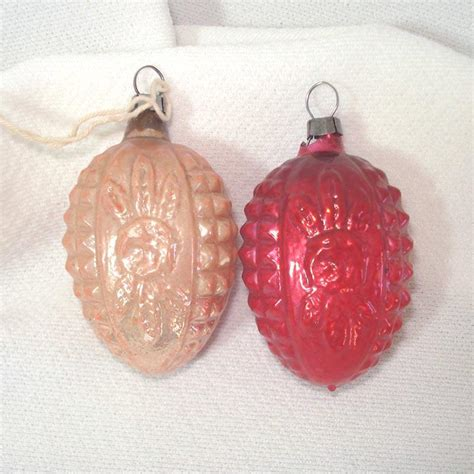 antique rose embossed german glass christmas ornaments