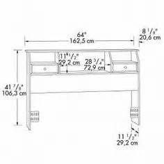 Size Bookcase Headboard Plans by Free Bookcase Headboard Plans Diy Projects