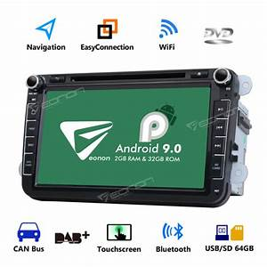 8 U0026quot  Android 9 0 Car Stereo Radio Gps Navi Obd2 For Vw Golf