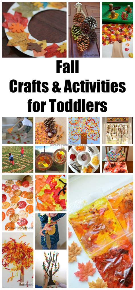 fall crafts activities  toddlers