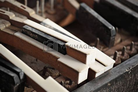 broken piano keys royalty  stock image stock