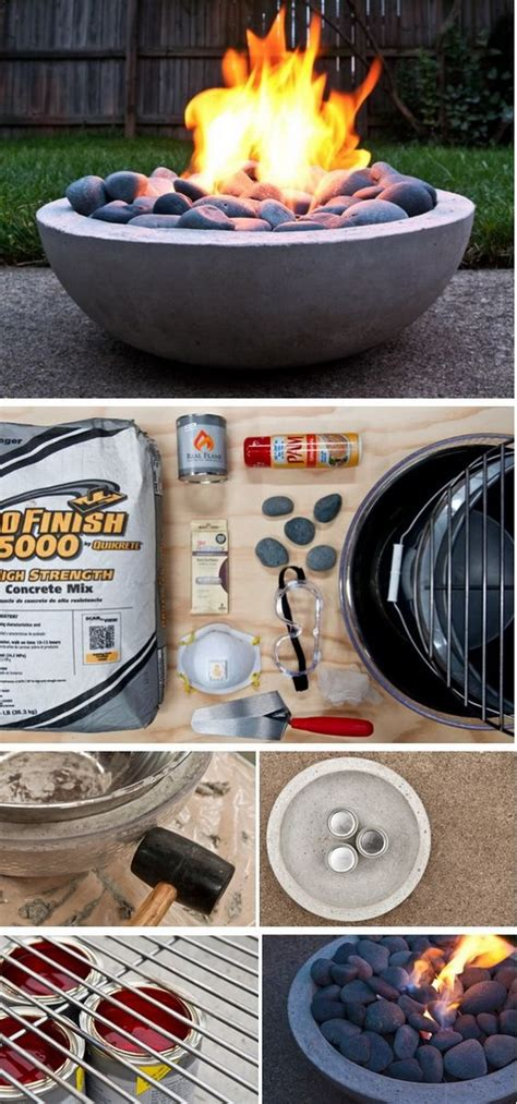 diy fire pits   backyard  tutorials