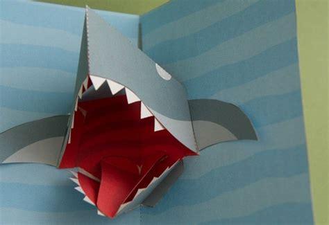 shark attack pop  card templates shark pop