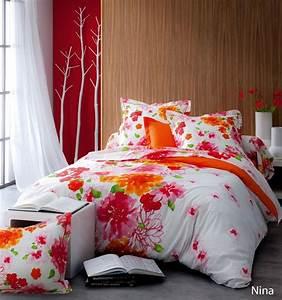 Housse De Couette Fleurie : drap housse nina 90x190 linge de maison ~ Melissatoandfro.com Idées de Décoration