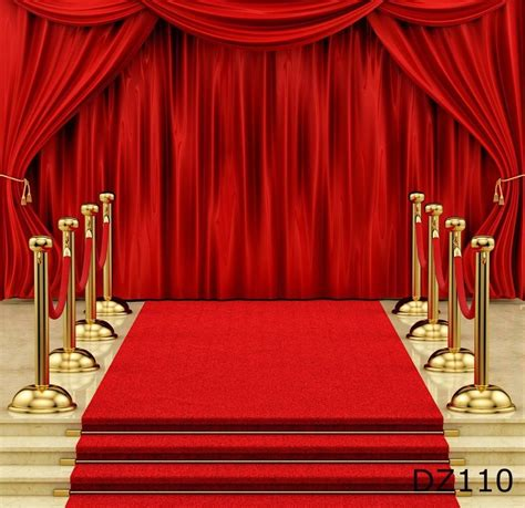5x7ft vinyl photography backdrop stage curtain red carpet photo background dz110 ebay