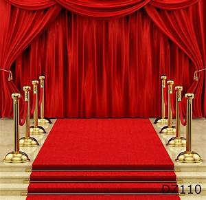 5x7FT Vinyl Photography Backdrop Stage Curtain Red Carpet