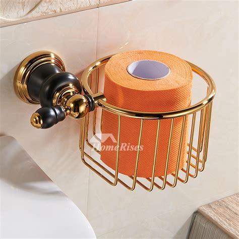 luxury black  gold bathroom accessories polished brass