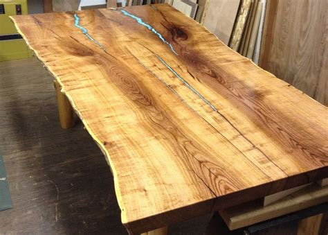 mesquite l with turquoise inlay custom made turquoise inlay mesquite dining table by aaron