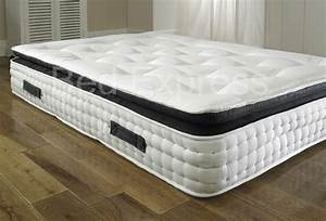 Pillow top 2000 pocket spring mattress 4396 double 5ft king for Dual pillow top mattress