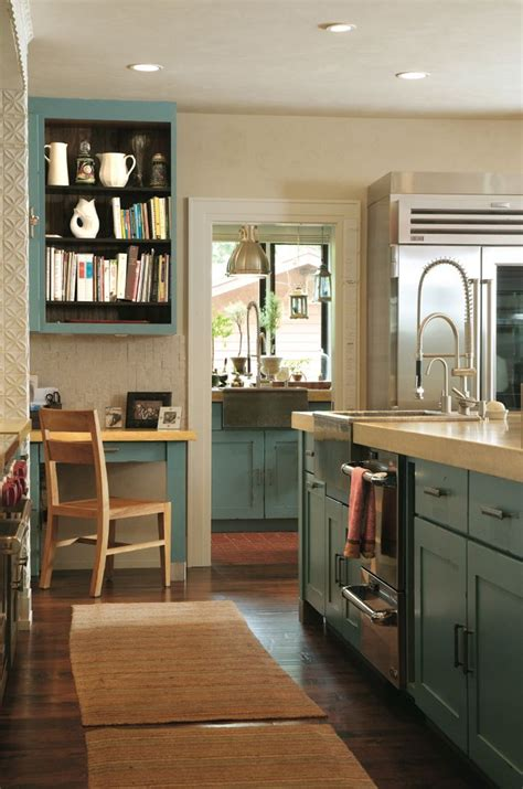 compact kitchen workspace  images teal kitchen
