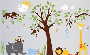Wall decal nice safari wall decals for nursery jungle for Nice safari wall decals for nursery