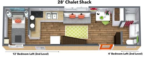 chalet shack tiny house  wheels mini mansions tiny home builders llc