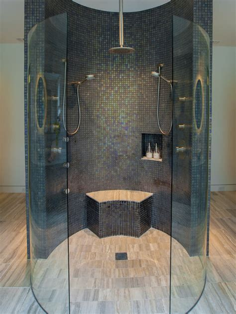 double shower head houzz