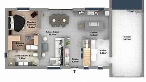 modele plan de maison individuelle gratuit ventana blog With maison de 100m2 plan 4 plans de maisons maison laure constructeur region centre