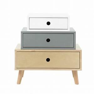 Cabinet Maison Du Monde : cabinet de rangement vintage en bois multicolore l 52 cm dekale maisons du monde ~ Nature-et-papiers.com Idées de Décoration
