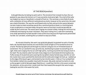 how to start a descriptive essay about a beach