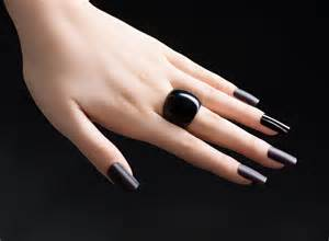 Black Manicure Nails