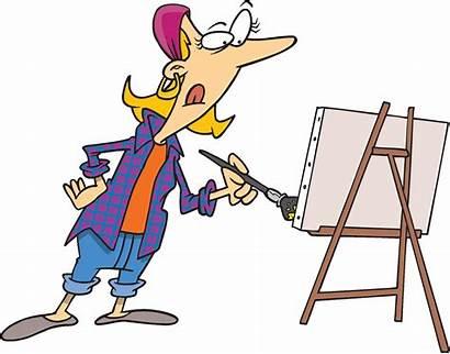 Canvas Cartoon Painting Clipart Artist Painter Cartoons